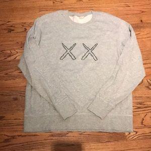 KAWS x Sesame Street Uniqlo Sweatshirt Size Large
